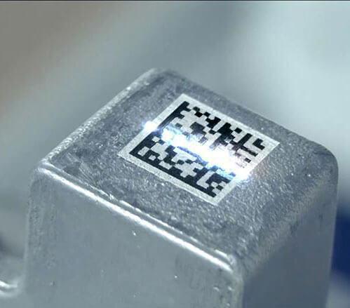 Datamatrix-01 Grawerowanie laserowe w przemyśle odlewniczym