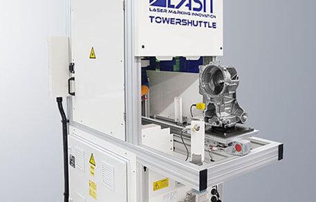 Shuttle System laserowy zintegrowany z wózkiem dla branży motoryzacyjnej